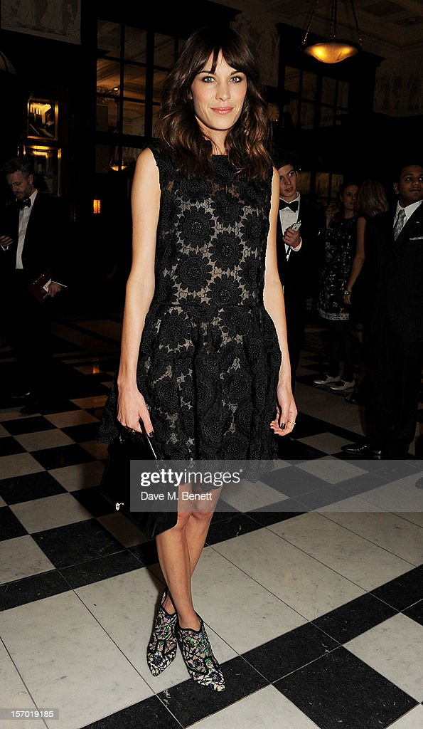 Alexa Chung attends a drinks reception at the British Fashion Awards 2012 at The Savoy Hotel on November 27, 2012 in London, England.