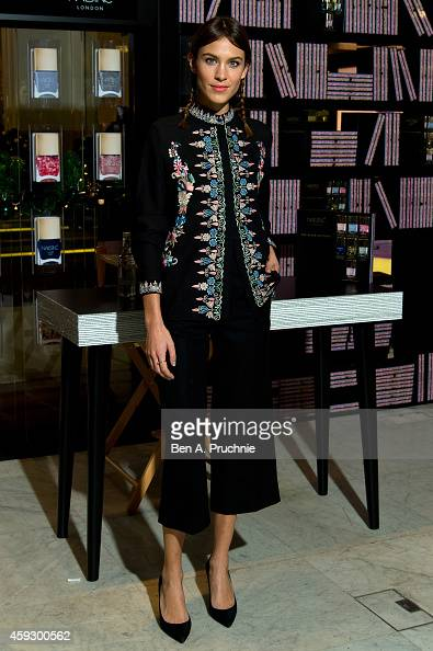 Alexa Chung attends a photocall to launch Nails Inc The Alexa Editions at Selfridges on November 20 2014 in London England