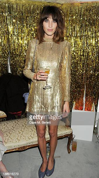 Alexa Chung attends an after party following the ELLE Style Awards at The Savoy Hotel on February 13 2012 in London England
