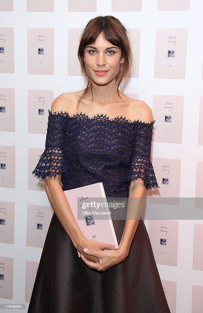 Alexa Chung attends as Alexa Chung celebrates the launch of her first book 'It' at Liberty on September 4, 2013 in London, England.