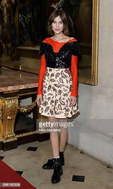 Alexa Chung attends as Christian Dior showcases its spring summer 2017 cruise collection at Blenheim Palace on May 31 2016 in Woodstock England