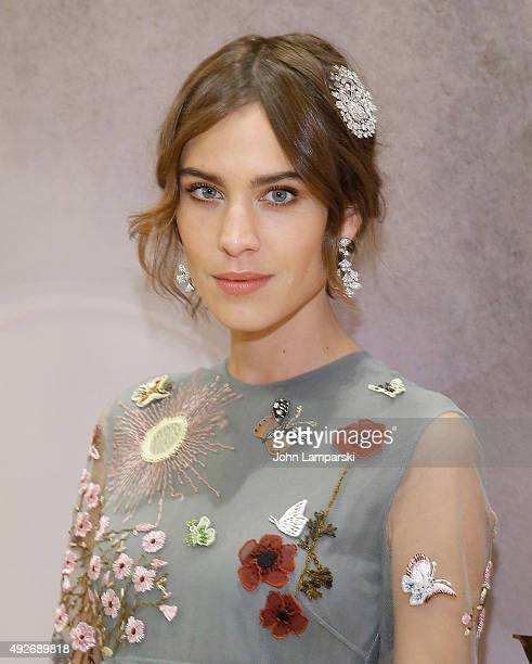 Alexa Chung attends Bvlgari and Rome Eternal Inspiration opening night at Bulgari Fifth Avenue on October 14 2015 in New York City