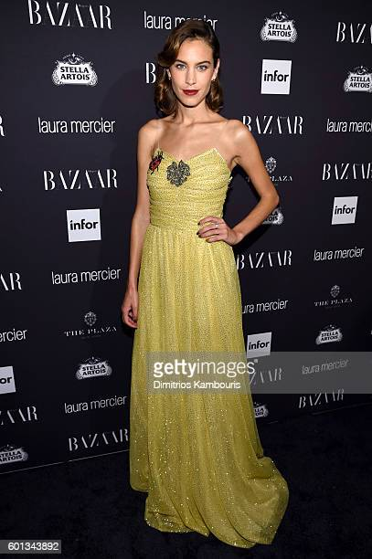 Alexa Chung attends Harper's Bazaar's celebration of 'ICONS By Carine Roitfeld' presented by Infor Laura Mercier and Stella Artois at The Plaza Hotel...
