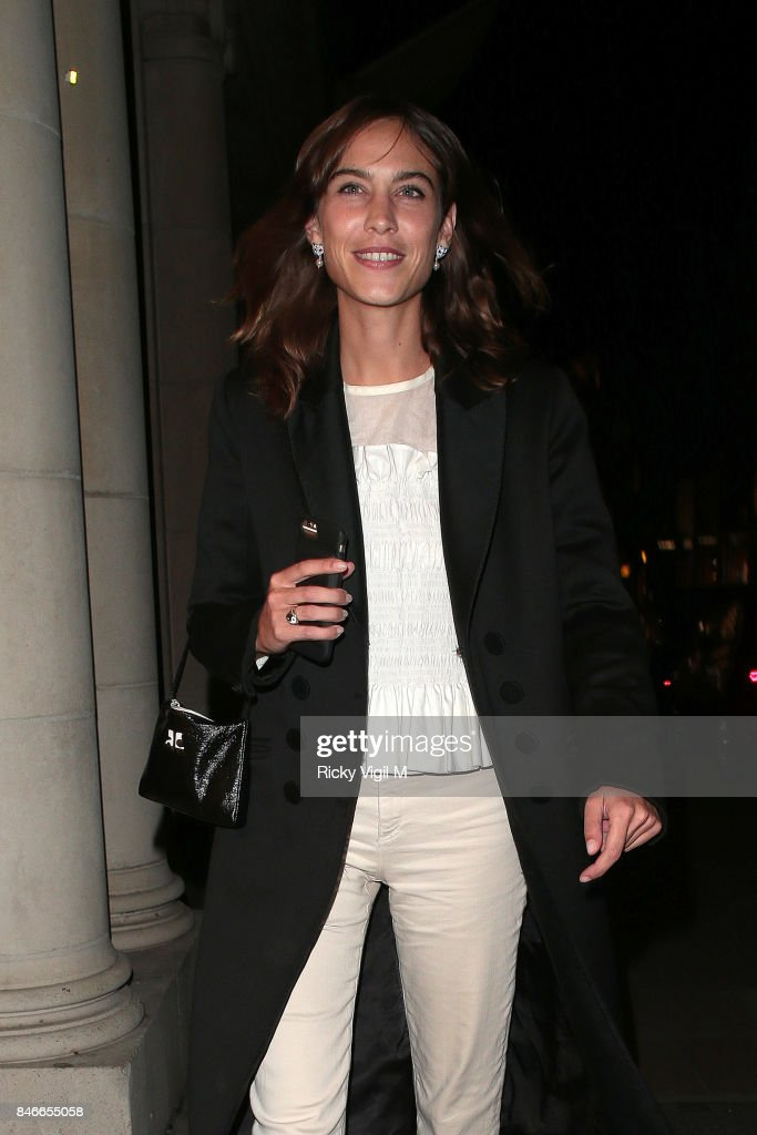 Alexa Chung attends House of Holland - pop-up launch party at Fenwick of Bond Street on September 13, 2017 in London, England.