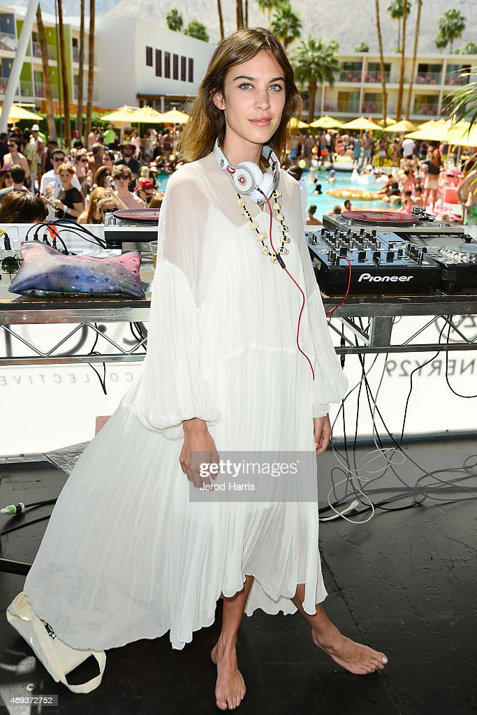 Alexa Chung attends Refinery29 x AOK Present Paradiso Day 1 on April 11 2015 in Palm Springs California