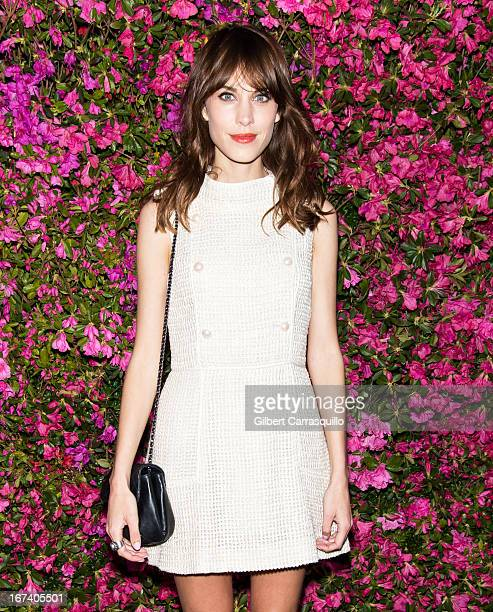 Alexa Chung attends the 8th annual Chanel Artists Dinner during the 2013 Tribeca Film Festival at The Odeon on April 24 2013 in New York City