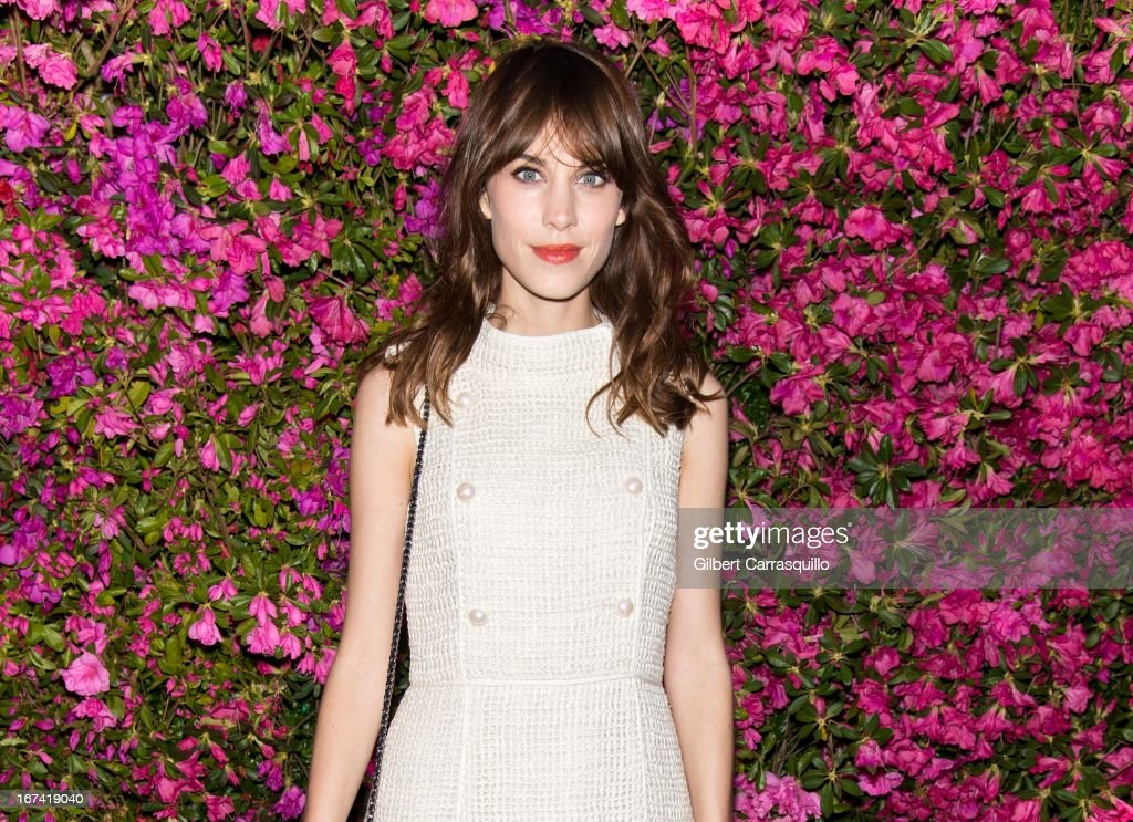 Alexa Chung attends the 8th annual Chanel Artists Dinner during the 2013 Tribeca Film Festival at The Odeon on April 24, 2013 in New York City.