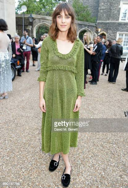 Alexa Chung attends the ALEXACHUNG London Launch Summer 17 Collection Reveal at the Danish Church of Saint Katharine on May 30 2017 in London England
