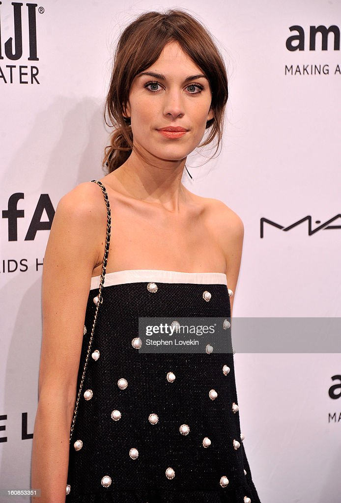 Alexa Chung attends the amfAR New York Gala to kick off Fall 2013 Fashion Week at Cipriani Wall Street on February 6, 2013 in New York City.