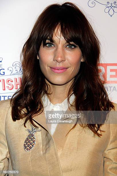 Alexa Chung attends The Big British Invite at 78 Mercer Street on March 21 2013 in New York City