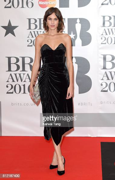 Alexa Chung attends the BRIT Awards 2016 at The O2 Arena on February 24 2016 in London England