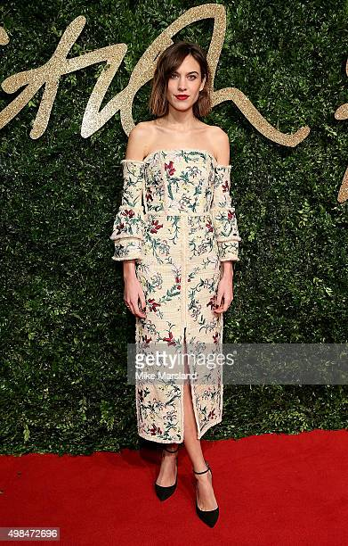 Alexa Chung attends the British Fashion Awards 2015 at London Coliseum on November 23 2015 in London England