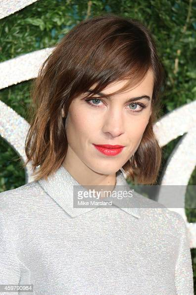Alexa Chung attends the British Fashion Awards at London Coliseum on December 1 2014 in London England