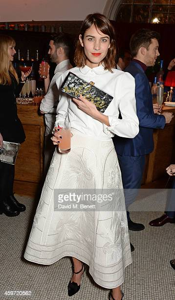 Alexa Chung attends the British Fashion Awards Nominees' Dinner hosted by Grey Goose at the Soho House PopUp on November 29 2014 in London England