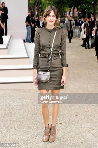 Alexa Chung attends the Burberry Prorsum Spring/Summer 2011 fashion show during LFW at Chelsea College of Art and Design on September 21 2010 in...