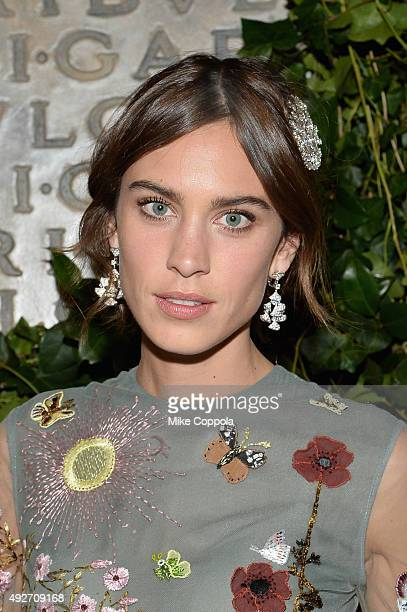 Alexa Chung attends the BVLGARI ROME Eternal Inspiration Opening Night on October 14 2015 in New York City