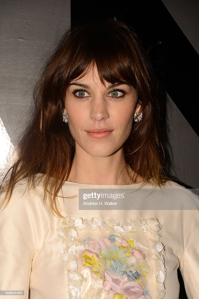 Alexa Chung attends the celebration of CHANEL FINE JEWELRY'S 80th anniversary of the 'Bijoux De Diamants' collection created by Gabrielle Chanel on October 9, 2012 in New York City.