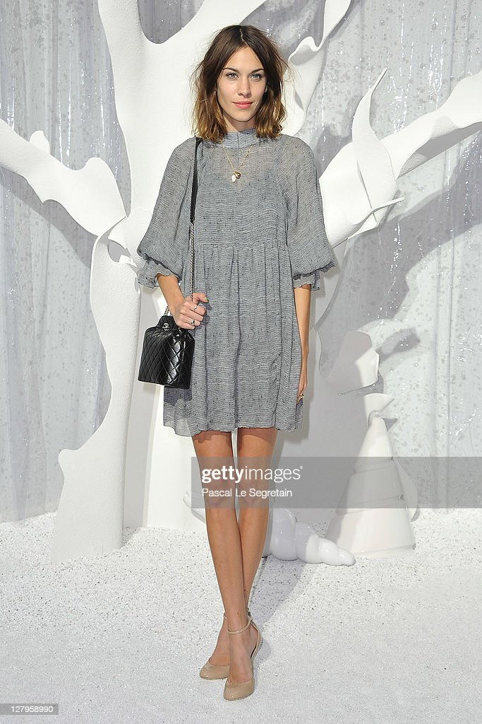 <a gi-track='captionPersonalityLinkClicked' href=/galleries/search?phrase=Alexa+Chung&family=editorial&specificpeople=3141821 ng-click='$event.stopPropagation()'>Alexa Chung</a> attends the Chanel Ready to Wear Spring / Summer 2012 show during Paris Fashion Week at Grand Palais on October 4, 2011 in Paris, France.