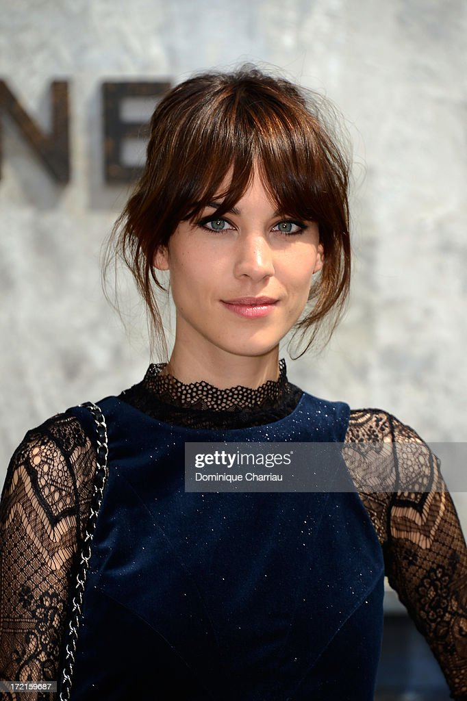 Alexa Chung attends the Chanel show as part of Paris Fashion Week Haute Couture Fall/Winter 2013-2014 at Grand Palais on July 2, 2013 in Paris, France.