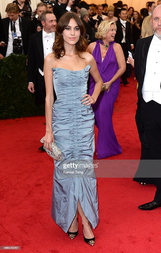 Alexa Chung attends the 'Charles James: Beyond Fashion' Costume Institute Gala held at the Metropolitan Museum of Art on May 5, 2014 in New York City.