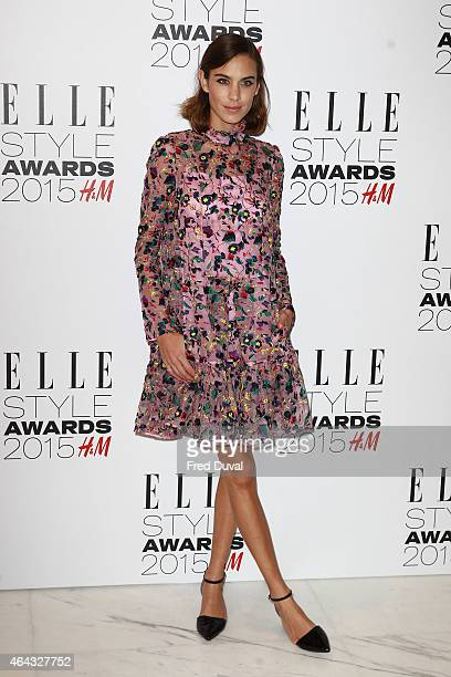 Alexa Chung attends the ELLE Style Awards at Sky Garden 20 Fenchurch Street EC3M 3BY on February 24 2015 in London England