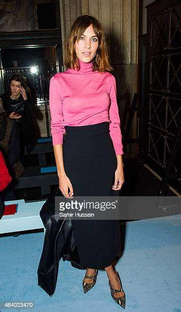 Alexa Chung attends the Emilia Wickstead show during London Fashion Week Fall/Winter 2015/16 on February 21 2015 in London United Kingdom