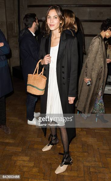 Alexa Chung attends the Emilia Wickstead show during the London Fashion Week February 2017 collections on February 18 2017 in London England