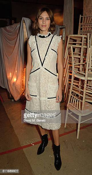 Alexa Chung attends the Erdem show during London Fashion Week Autumn/Winter 2016/17 at The Old Selfridges Hotel on February 22 2016 in London England
