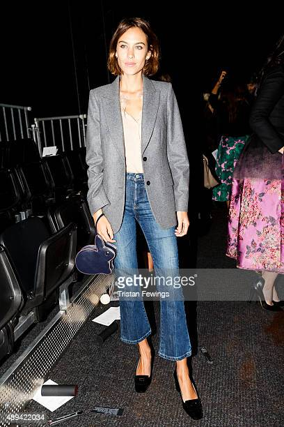 Alexa Chung attends the Erdem show during London Fashion Week SS16 on September 21 2015 in London England