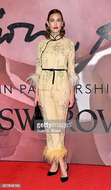 Alexa Chung attends The Fashion Awards 2016 on December 5 2016 in London United Kingdom