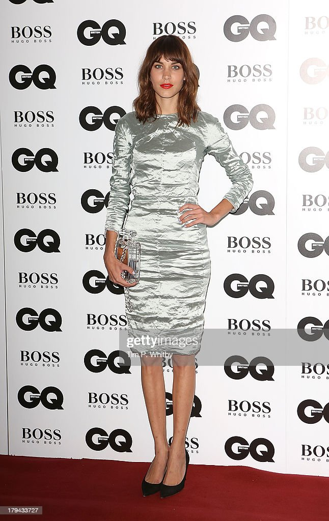 Alexa Chung attends the GQ Men of the Year awards at The Royal Opera House on September 3, 2013 in London, England.