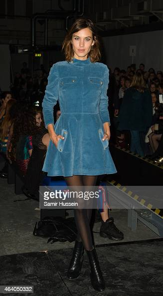 Alexa Chung attends the Henry Holland show during London Fashion Week Fall/Winter 2015/16 on February 21 2015 in London United Kingdom