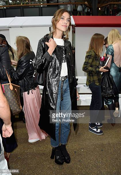 Alexa Chung attends the House of Holland show during London Fashion Week Spring/Summer collections 2017 on September 17 2016 in London United Kingdom