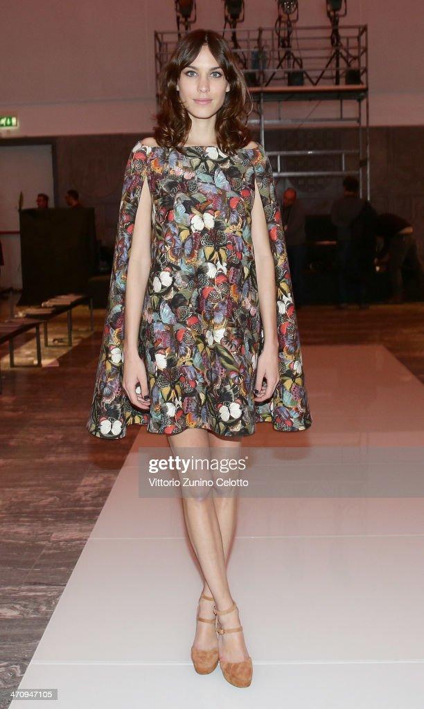 Alexa Chung attends the International Woolmark Prize as part of Milan Fashion Week Womenswear Autumn/Winter 2014 on February 21 2014 in Milan Italy