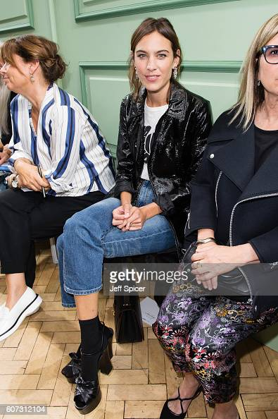 Alexa Chung attends the JW Anderson show during London Fashion Week Autumn/Winter collections 2016/2017 on September 17 2016 in London United Kingdom