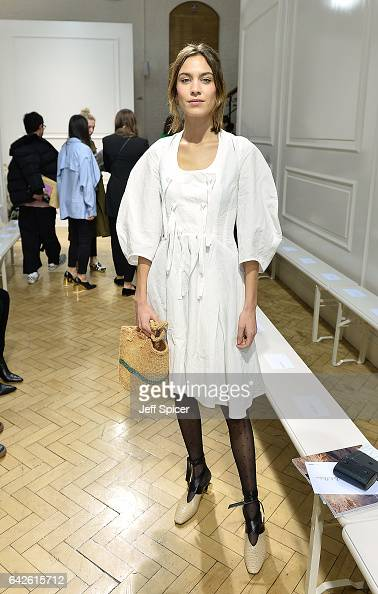 Alexa Chung attends the JWAnderson show during the London Fashion Week February 2017 collections on February 18 2017 in London England