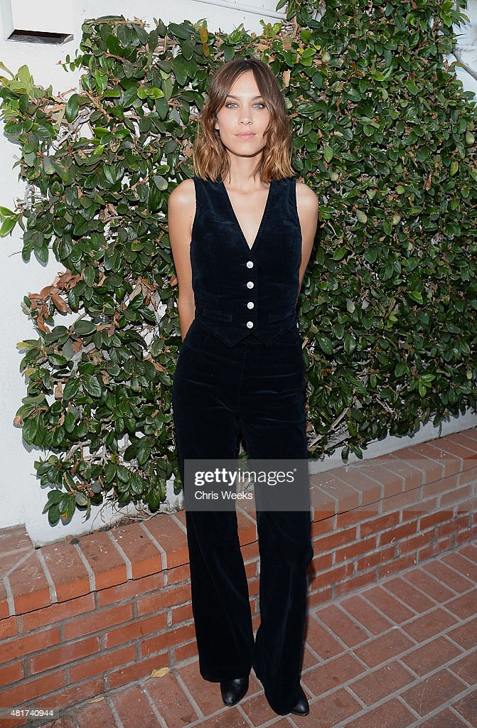 Alexa Chung attends the launch of Alexa Chung X AG PA at Ron Herman on July 23, 2015 in Los Angeles, California.