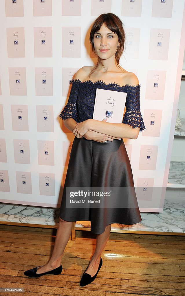 Alexa Chung attends the launch of Alexa Chung's first book 'It' at Liberty on September 4, 2013 in London, England.