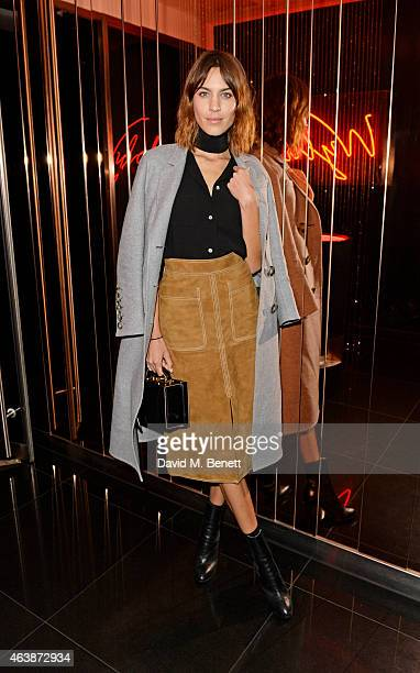 Alexa Chung attends the launch of W Beijing Chang'an at Wyld on February 19 2015 in London England