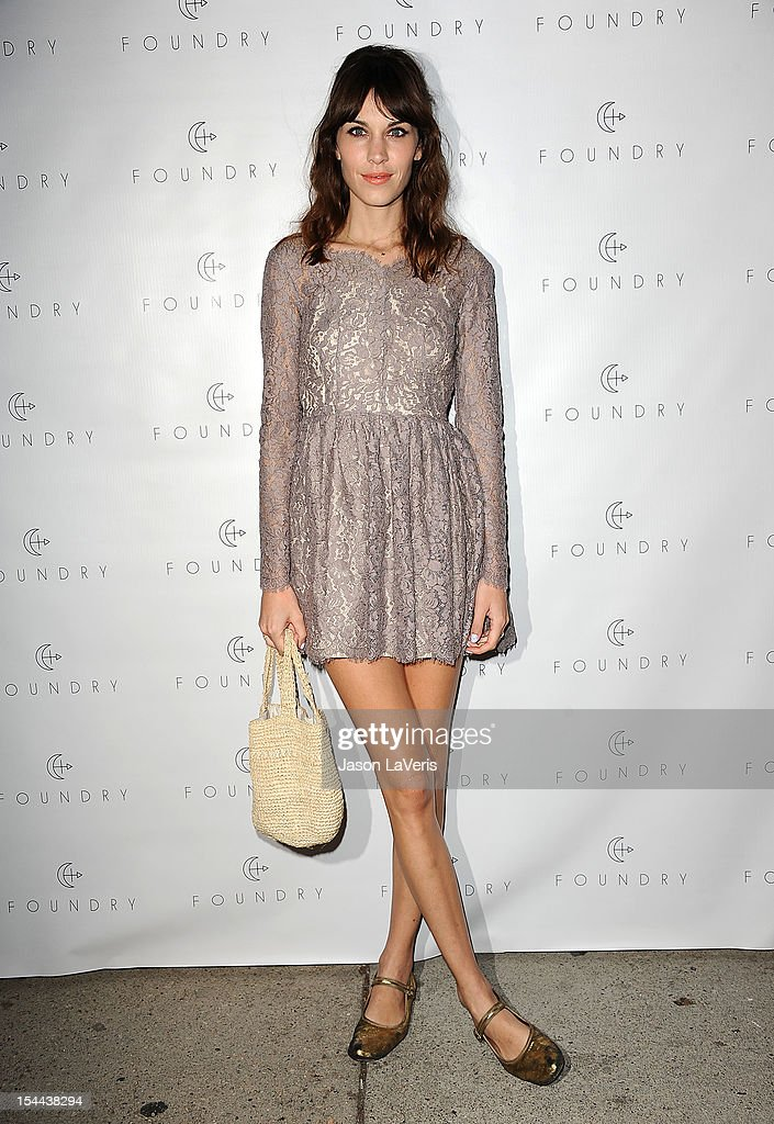 Alexa Chung attends the launch party for Foundry at Foundry Store on October 19 2012 in Los Angeles California