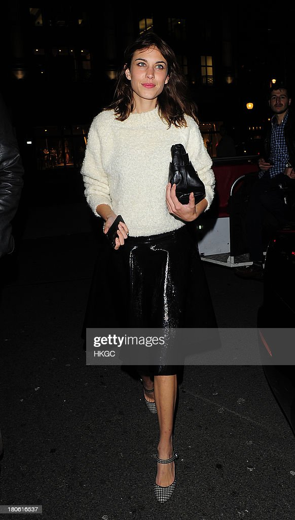 Alexa Chung attends The Longchamp flagship store launch party on September 14, 2013 in London, England.