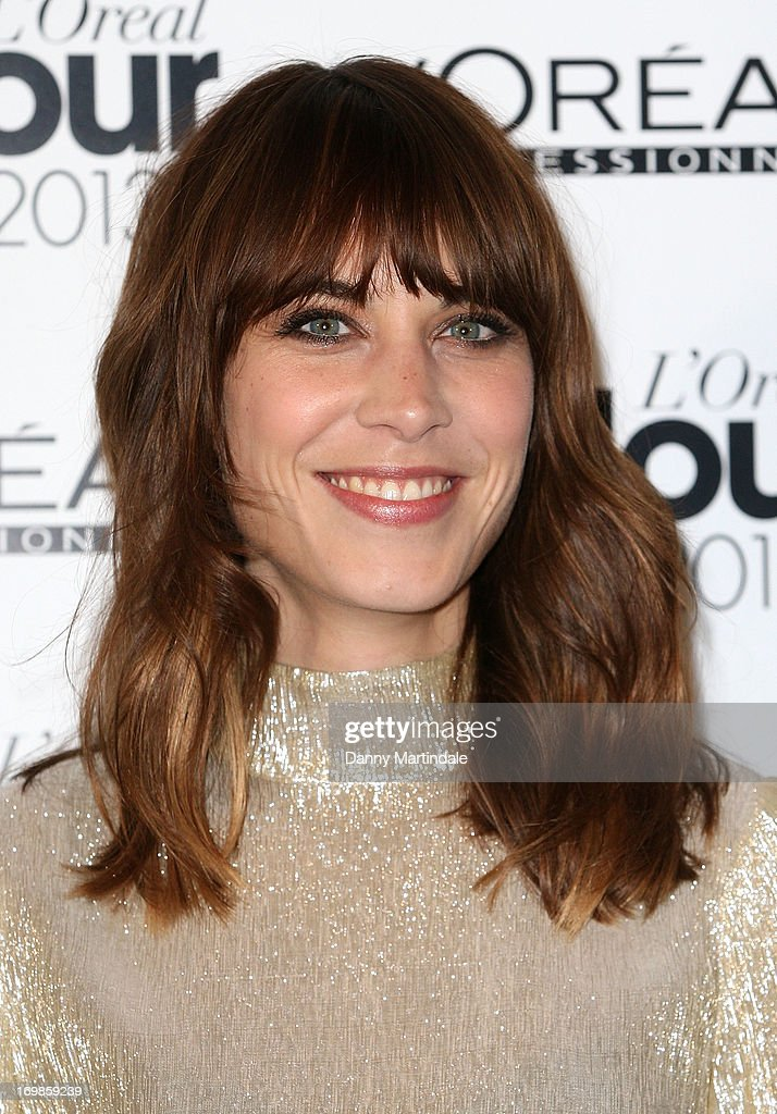 Alexa Chung attends the L'Oreal Colour Trophy Awards 2013 at Grosvenor House, on June 3, 2013 in London, England.