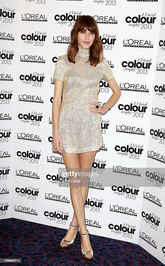 <a gi-track='captionPersonalityLinkClicked' href=/galleries/search?phrase=Alexa+Chung&family=editorial&specificpeople=3141821 ng-click='$event.stopPropagation()'>Alexa Chung</a> attends the L'Oreal Colour Trophy Awards at Grosvenor House, on June 3, 2013 in London, England.