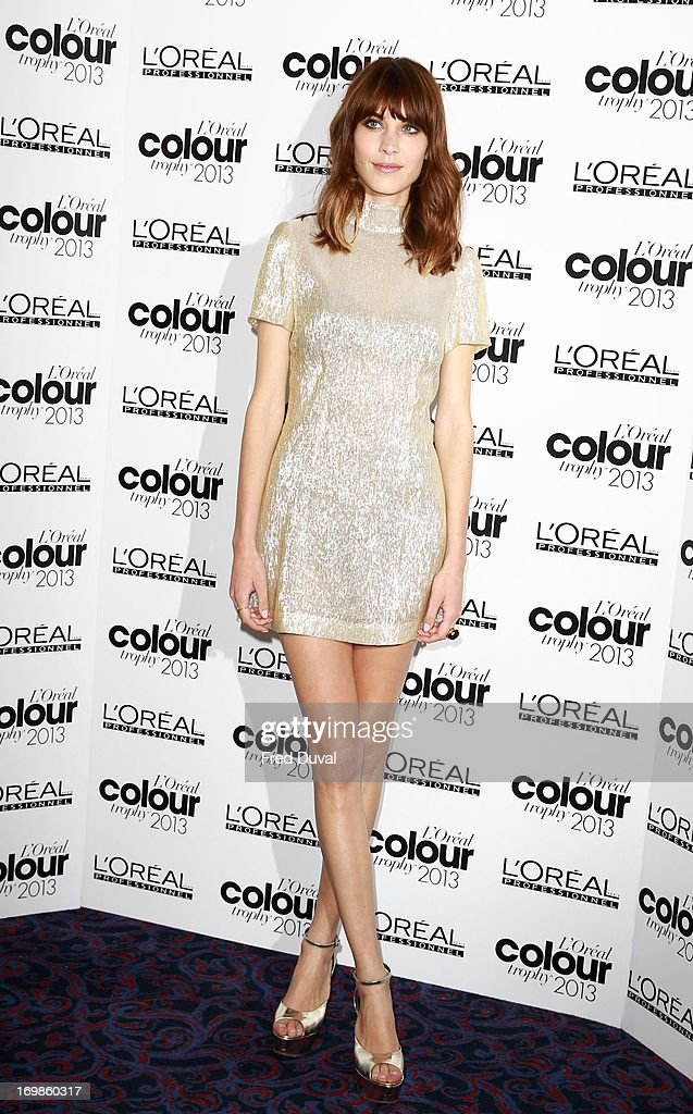 Alexa Chung attends the L'Oreal Colour Trophy Awards at Grosvenor House, on June 3, 2013 in London, England.