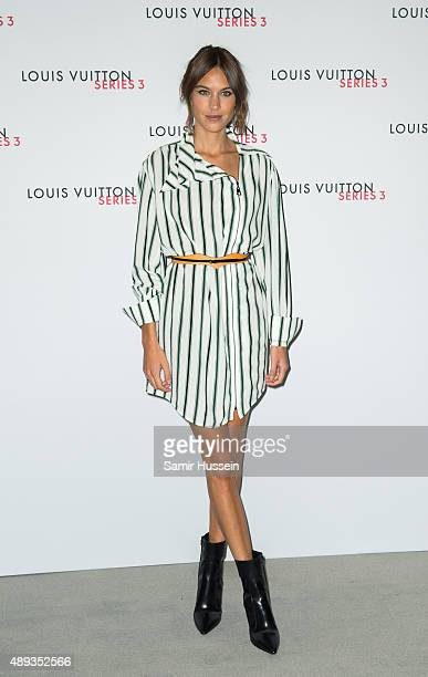 Alexa Chung attends the Louis Vuitton Series 3 VIP launch during London Fashion Week SS16 on September 20 2015 in London England
