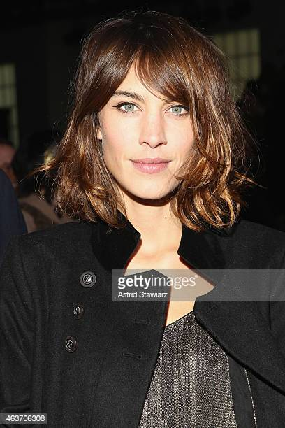 Alexa Chung attends the Marc By Marc Jacobs fashion show during MercedesBenz Fashion Week Fall 2015 at Pier 94 on February 17 2015 in New York City