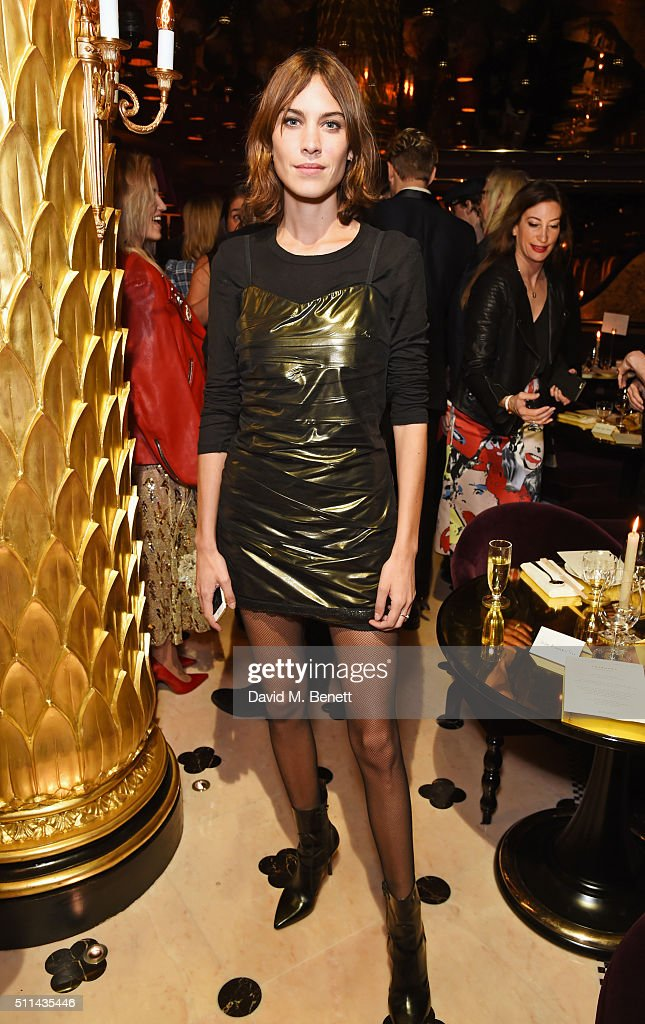 Alexa Chung attends the Marc Jacobs Beauty dinner at the Club at Park Chinois on February 20 2016 in London England