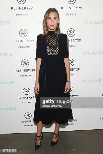 Alexa Chung attends the Refinery29 presentation of 29Rooms a celebration of style and culture during NYFW 2015 on September 10 2015 in Brooklyn New...