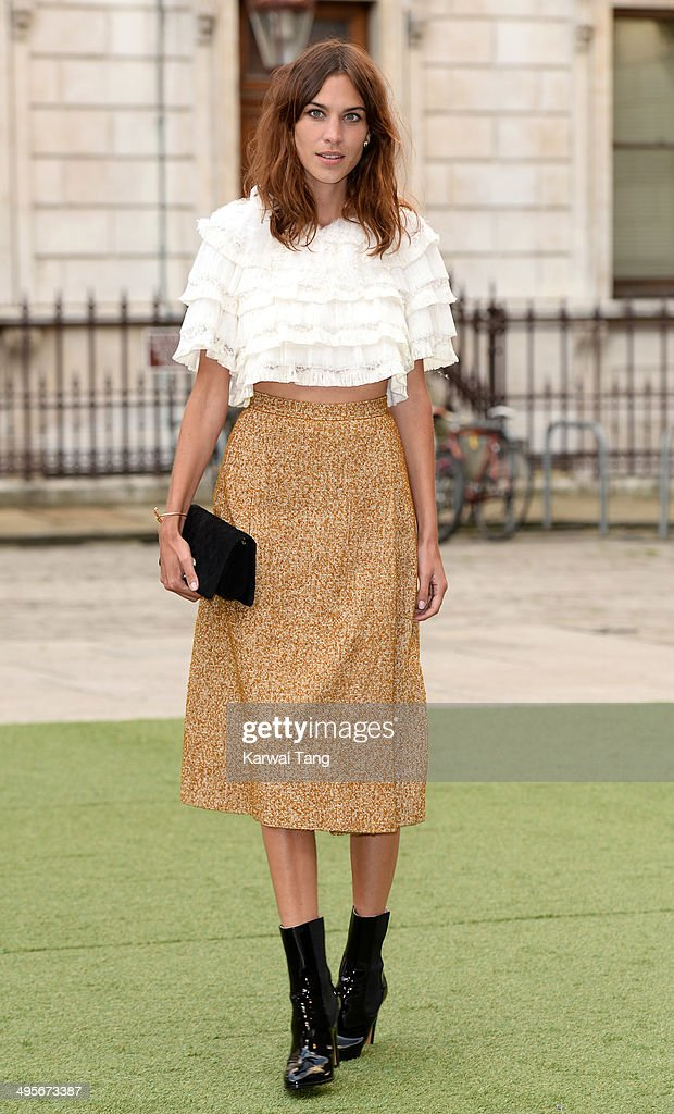 Alexa Chung attends the Royal Academy Summer Exhibition Preview Party at the Royal Academy of Arts on June 4 2014 in London England