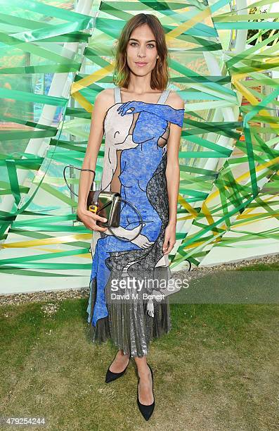 Alexa Chung attends The Serpentine Gallery summer party at The Serpentine Gallery on July 2 2015 in London England